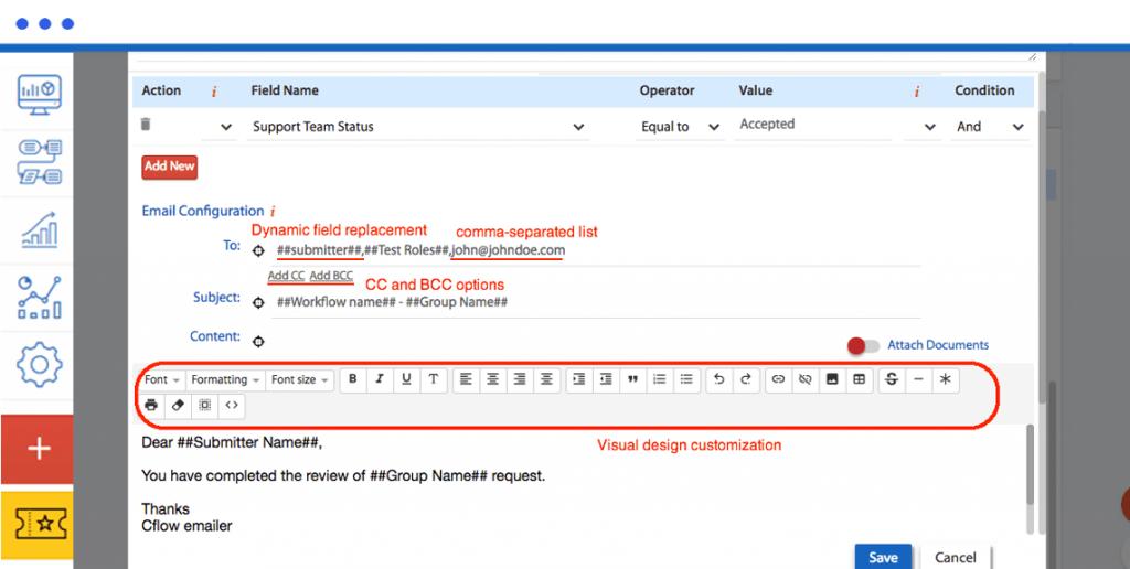 Email customization