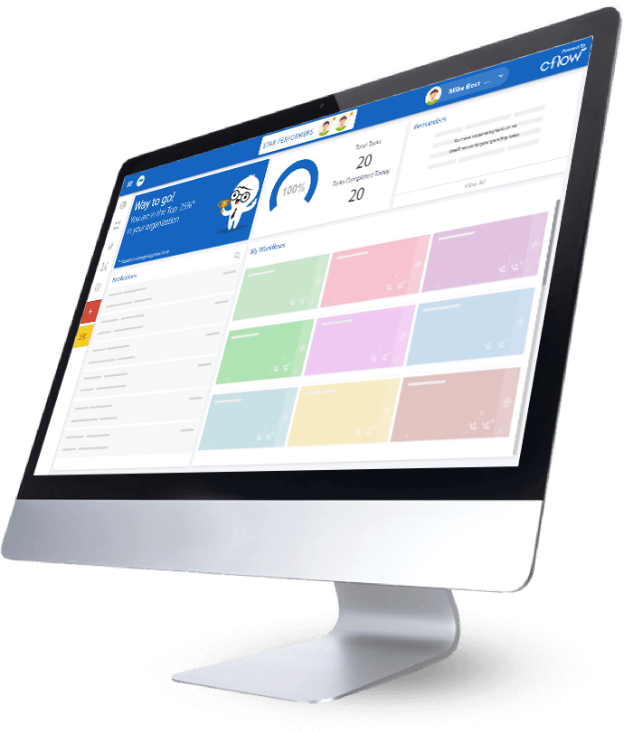process management system dashboard